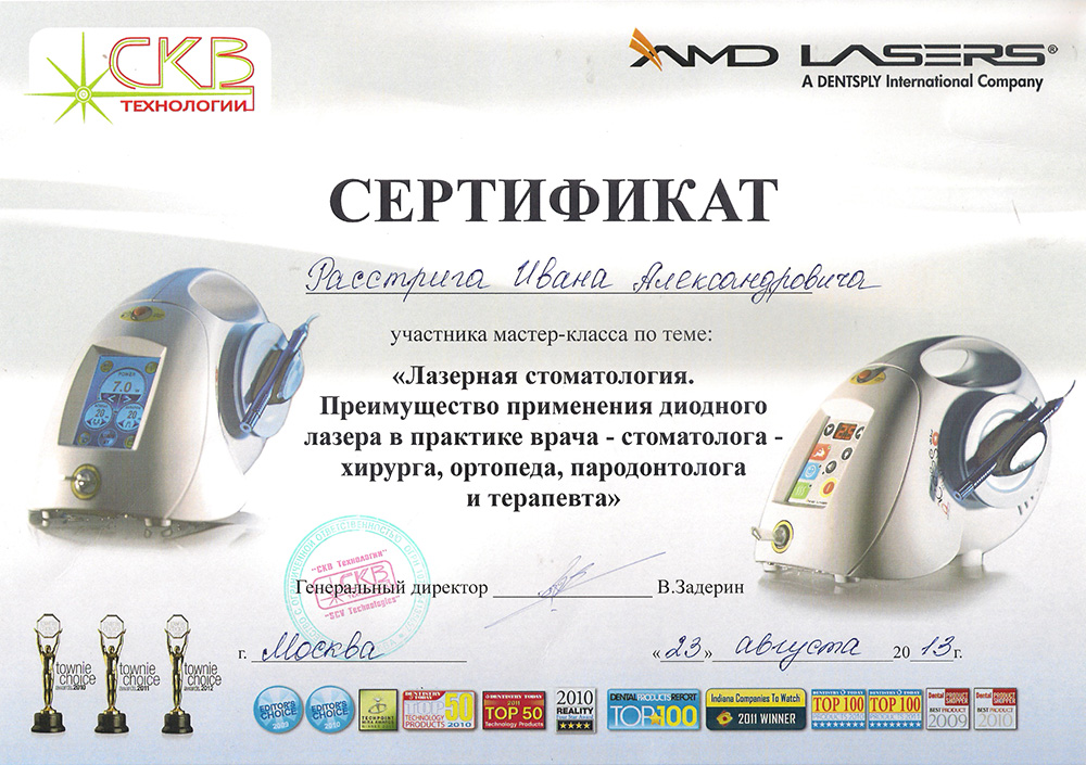 Стоматолог Расстрига Иван Александрович, хирург имплантолог